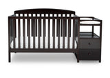 Delta Children Dark Chocolate (207) Royal Crib 'N' Changer, Crib Conversion c2c