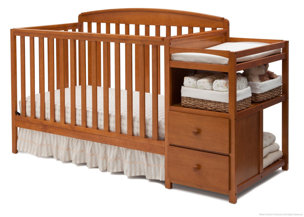 Delta Children Warm Honey (251) Royal Crib 'N' Changer, Crib Conversion d3d