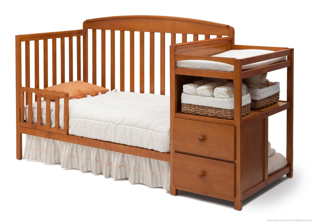 Delta Children Warm Honey (251) Royal Crib 'N' Changer, Toddler Bed Conversion d4d
