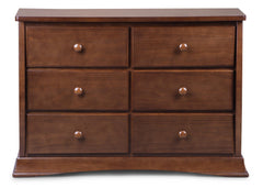 Delta Children Chocolate (204) Bentley 6 Drawer Dresser Front View b1b