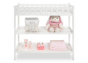 Delta Children White (100) Charleston/Winter Park Changing Table Front View a1a