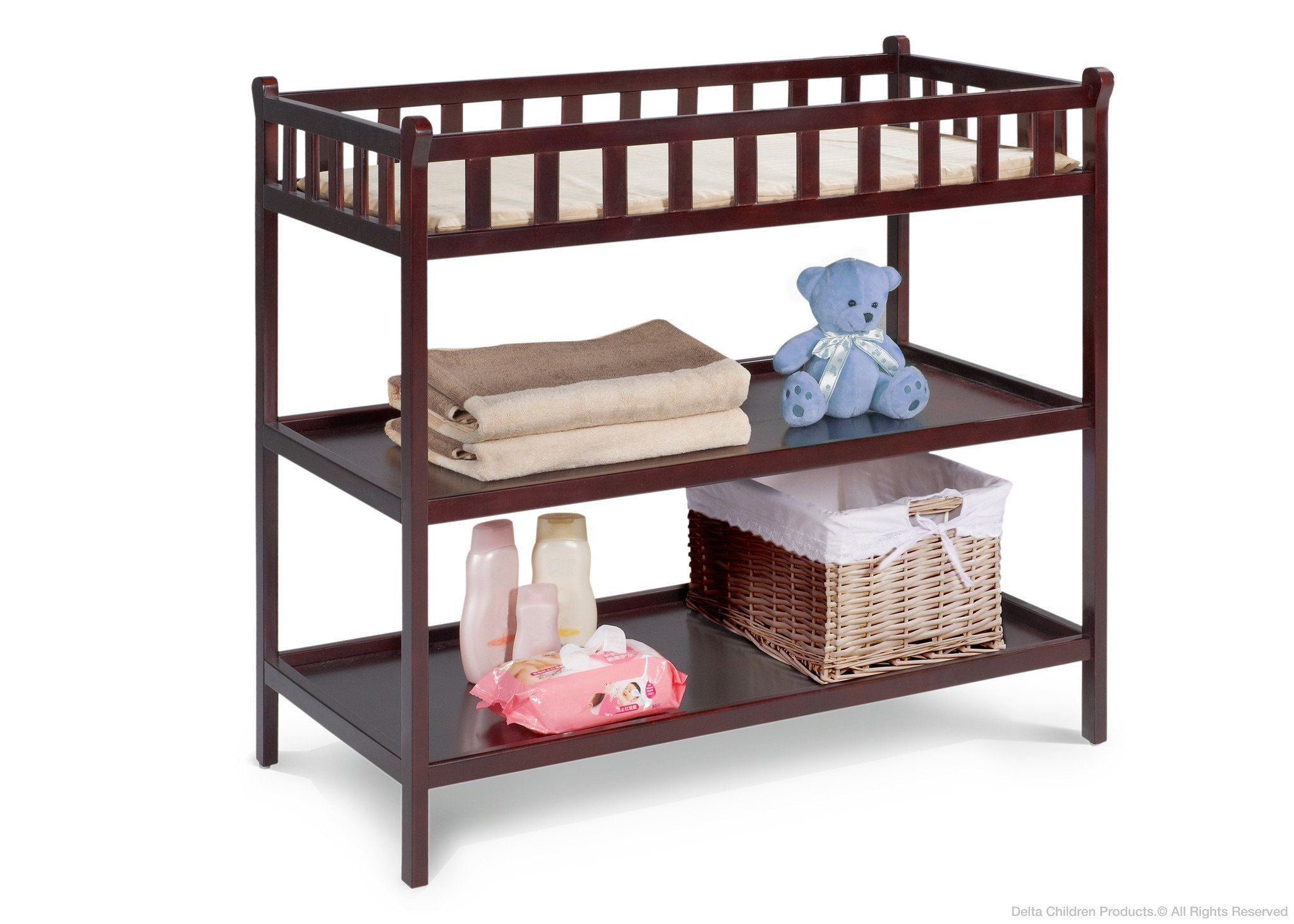 Delta Children Espresso Java (645) Charleston/Winter Park Changing Table c1c