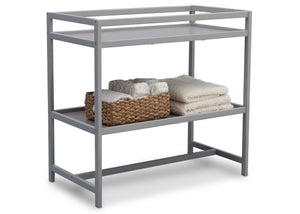 Delta Children Grey (026) Harbor Changing Table, Side View with Props a4a