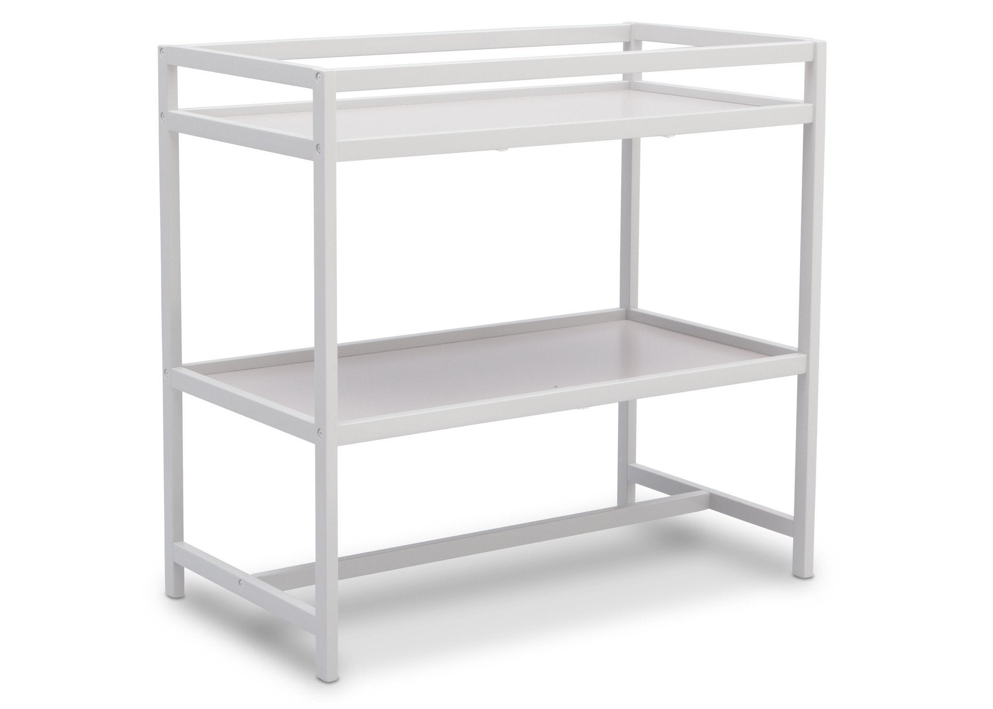 Delta Children White (100) Harbor Changing Table, Side View b2b