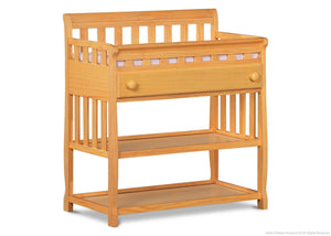 Delta Children Natural (260) Solutions Changing Table Side View b2b