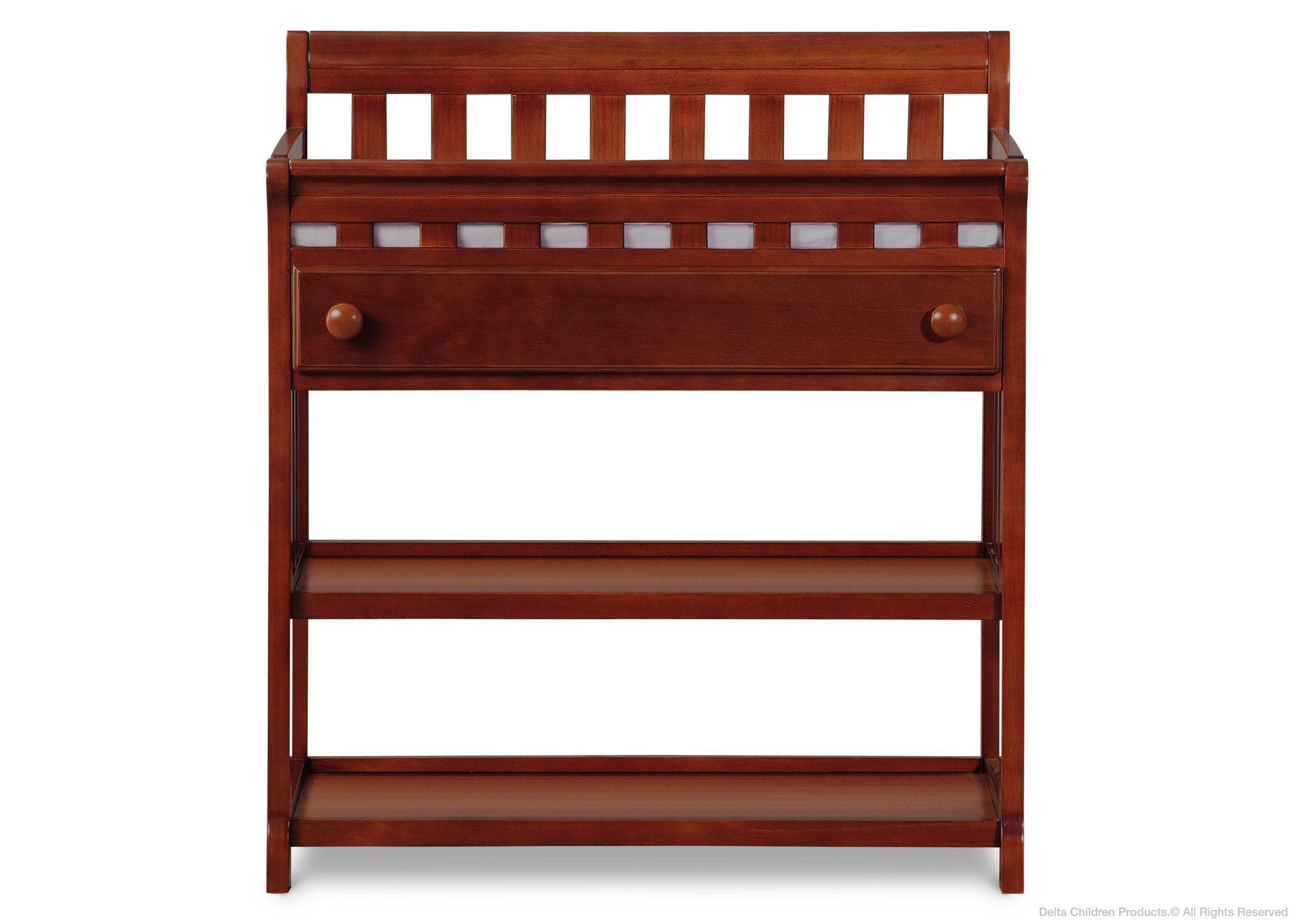 Delta Children Dark Cherry (604) Solutions Changing Table Front View c1c