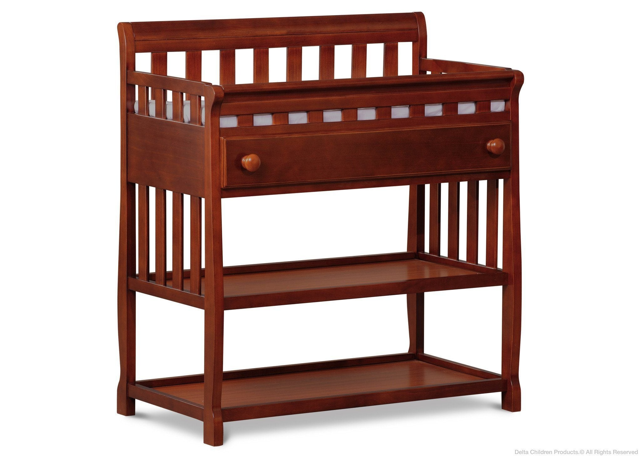 Merveilleux Delta Children Dark Cherry (604) Solutions Changing Table Side View C2c ...