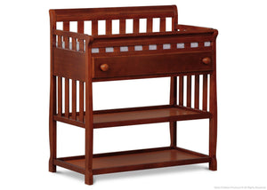 Delta Children Dark Cherry (604) Solutions Changing Table Side View c2c