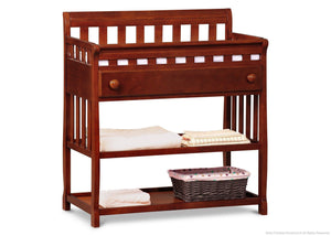 Delta Children Dark Cherry (604) Solutions Changing Table Side View with Props c3c