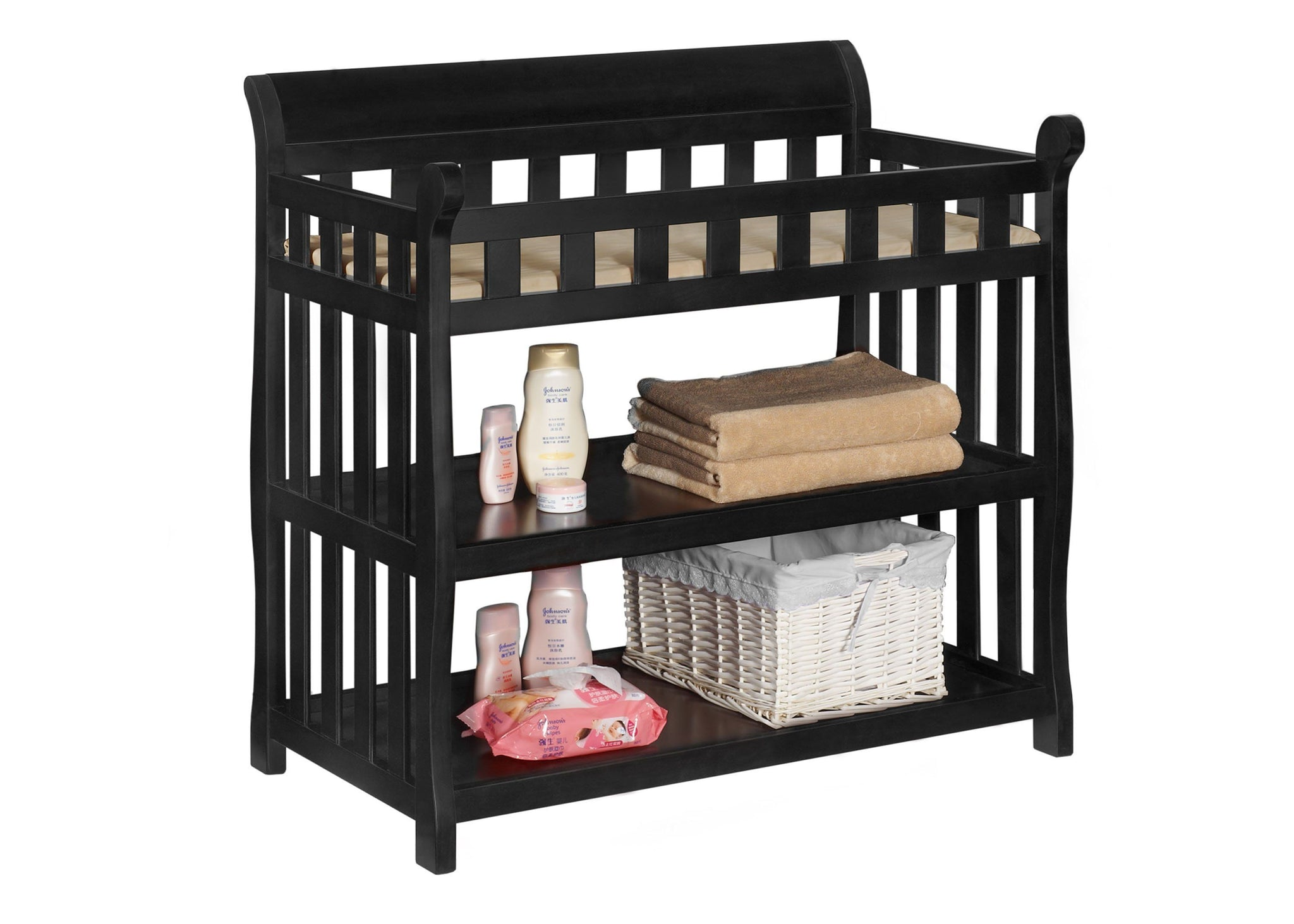 Delta Children Black (001) Eclipse Changing Table Right View