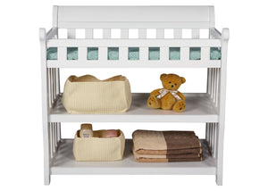 Delta Childrens White (100) Eclipse Changing Table Front Details c2c