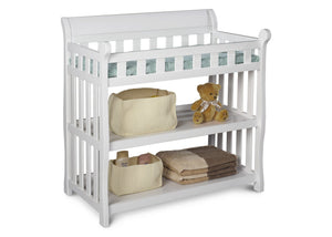 Delta Childrens White (100) Eclipse Changing Table Front Details c1c