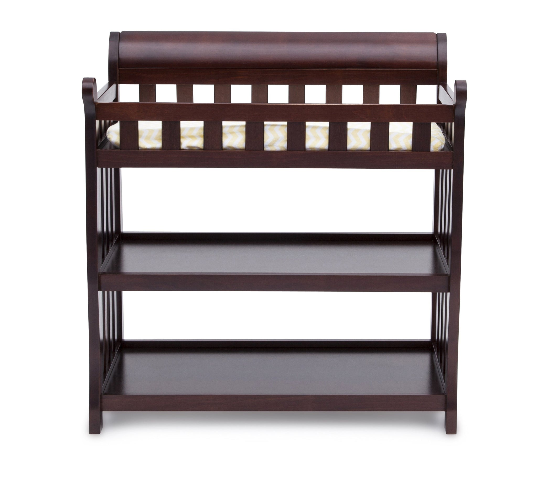 Delta Children Vintage Espresso (616) Eclipse Changing Table Front f2f