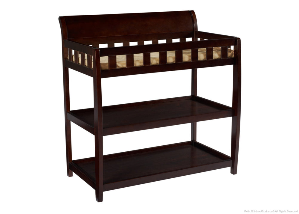 Delta Children Chocolate (204) Bentley Changing Table, Right View b1b