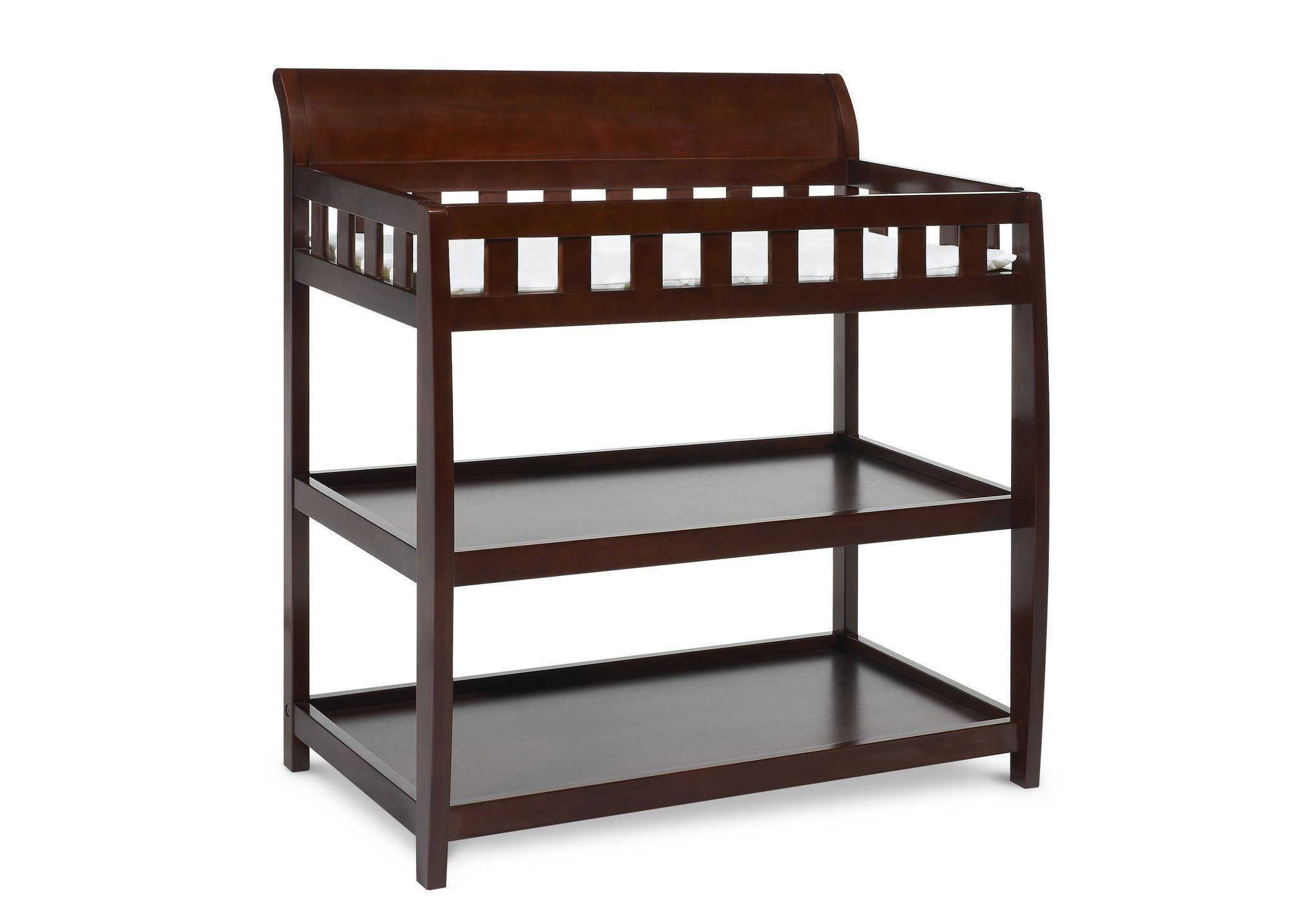 Delta Children Black Cherry Espresso (607) Bentley Changing Table, Right View c1c