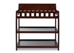 Delta Children Black Cherry Espresso (607) Bentley Changing Table, Front View c2c