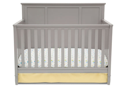 Delta Children Grey (026) Epic 4-in-1 Crib, Front view of Crib Conversion b2b