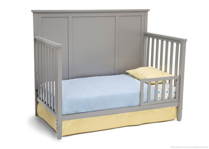 Delta Children Grey (026) Epic 4-in-1 Crib, Toddler Bed Conversion with Toddler Guardrail b4b