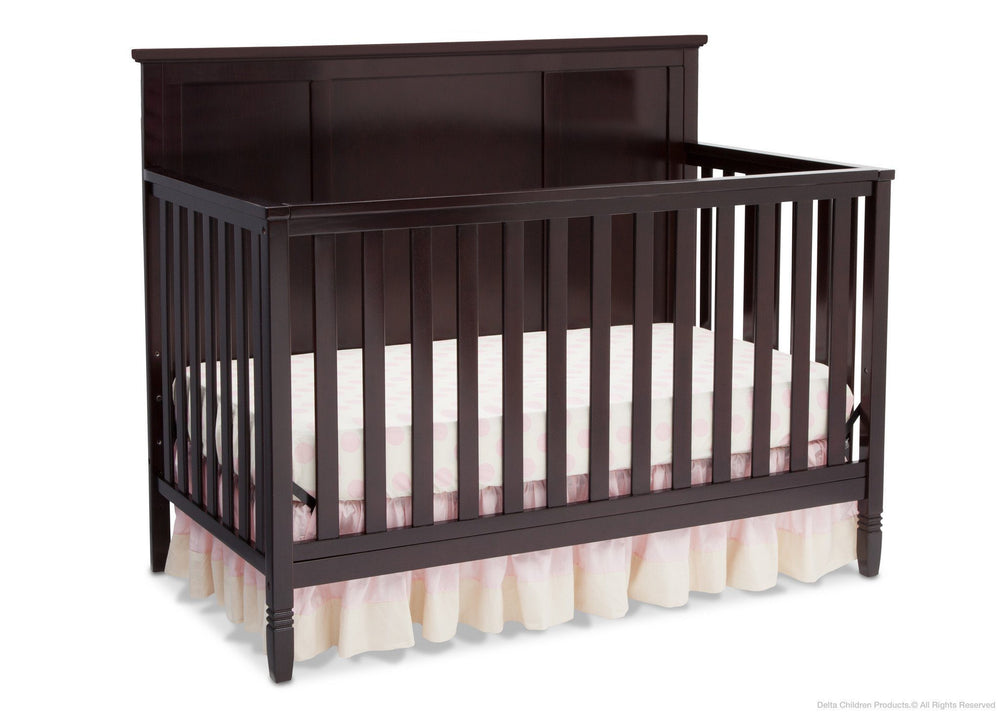Delta Children Dark Chocolate (207) Epic 4-in-1 Crib, Crib Conversion c1c