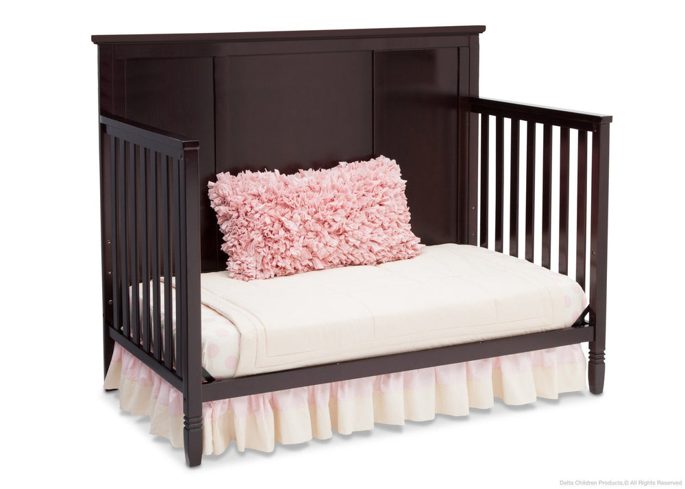 Delta Children Dark Chocolate (207) Epic 4-in-1 Crib, Day Bed Conversion c3c