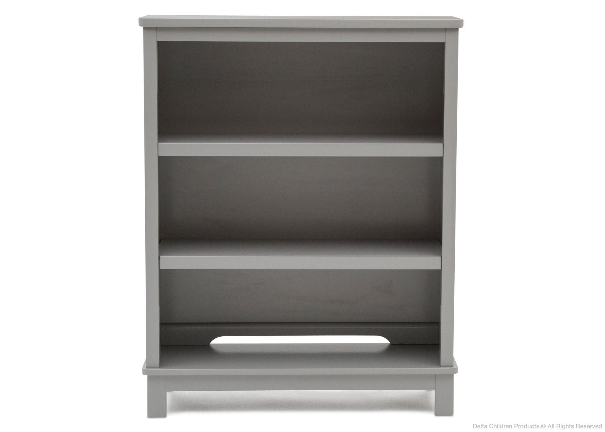 Delta Children Grey (026) Epic Bookcase/Hutch Front View with Base a3a