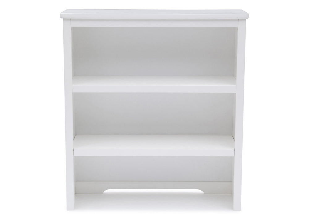 Delta Children White (100) Epic Bookcase/Hutch Front View b1b