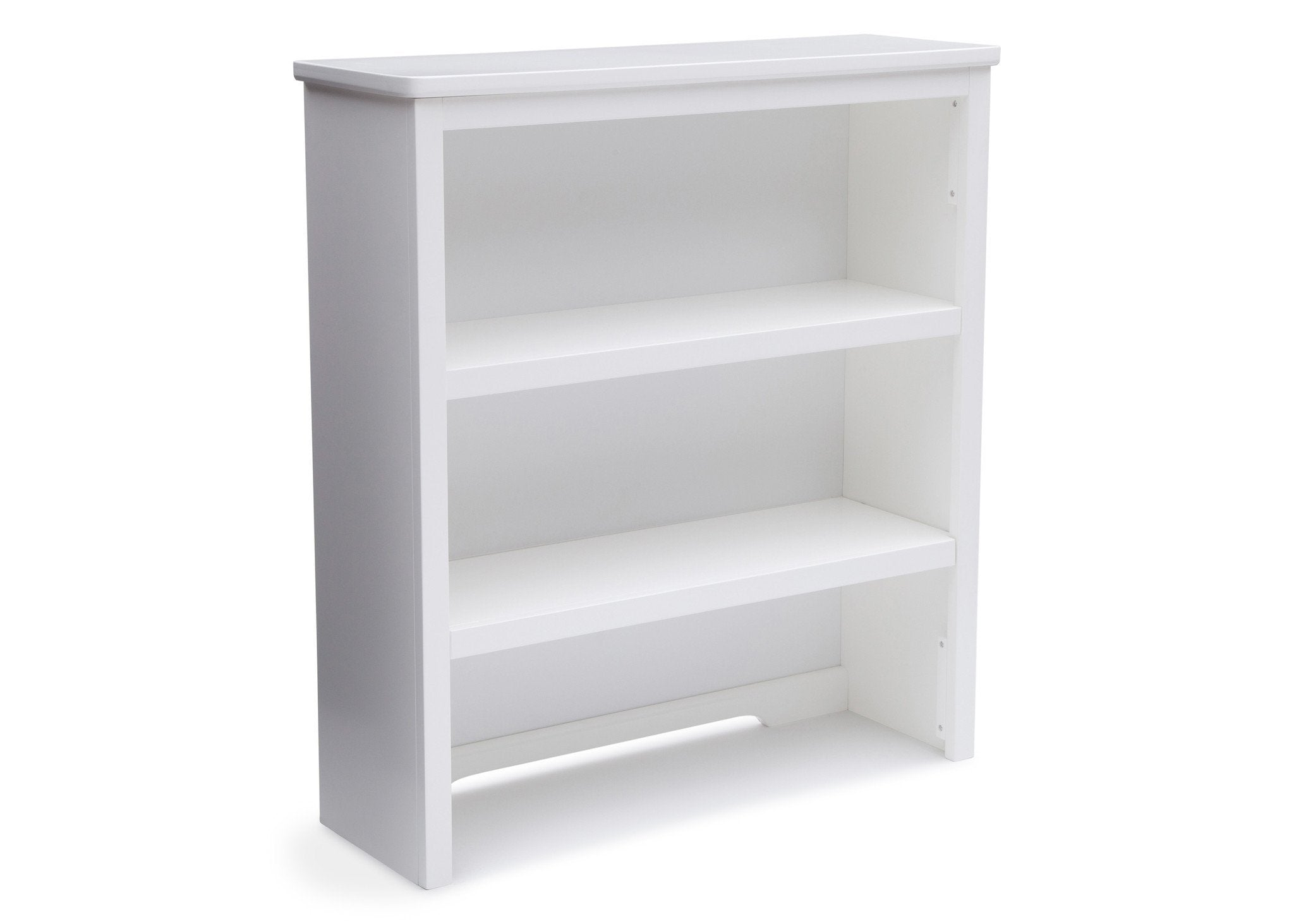 Delta Children White (100) Epic Bookcase/Hutch Side View b2b
