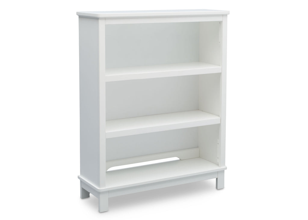 Delta Children Bianca (130) Epic Bookcase/Hutch Side View with Base e2e