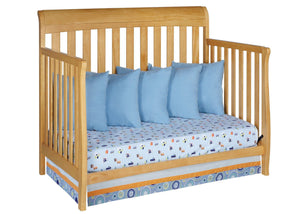 Delta Children Natural (260) Marquis 4-in-1 Crib, Daybed Conversion Side View c4c