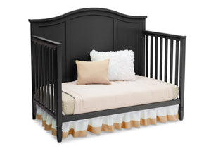 Delta Children Black (001) Madrid 4-in-1 Crib, Daybed Silo View