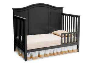 Delta Children Black (001) Madrid 4-in-1 Crib, Toddler Bed Silo View