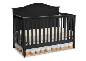 Delta Children Black (001) Madrid 4-in-1 Crib, Right Crib Silo View