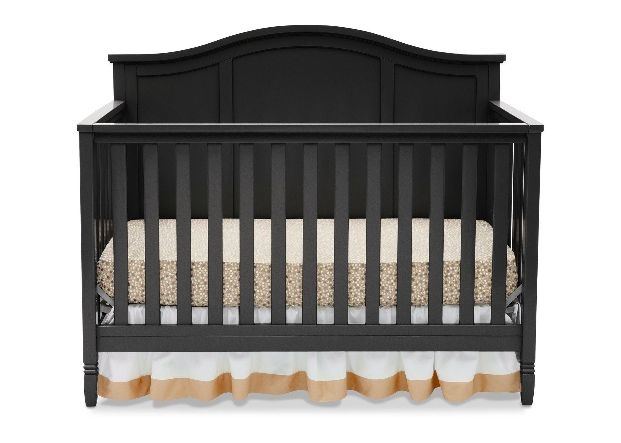 Delta Children Black (001) Madrid 4-in-1 Crib, Front Silo View