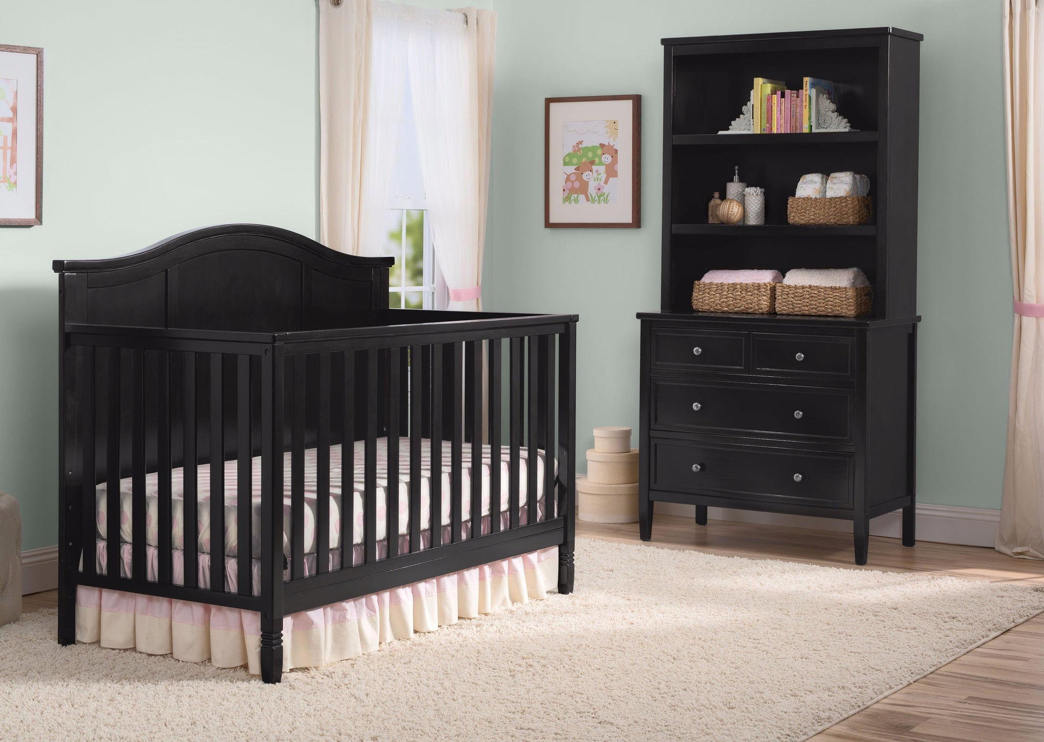 Madrid 4 in 1 Crib Black (001)