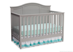 Delta Children Grey (026) Madrid 4-in-1 Crib, Right Crib Silo View