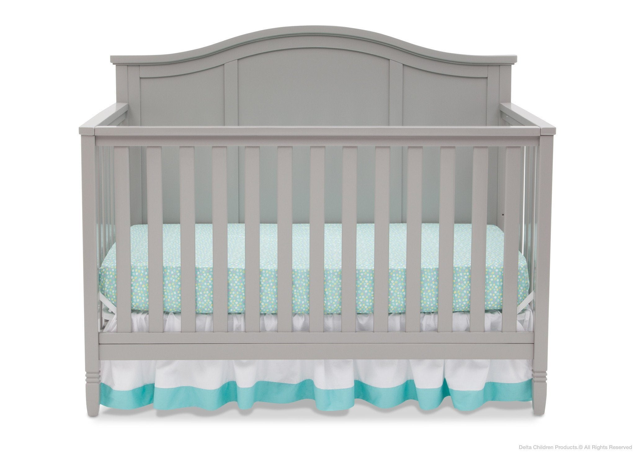 Delta Children Grey (026) Madrid 4-in-1 Crib, Front Crib Silo View