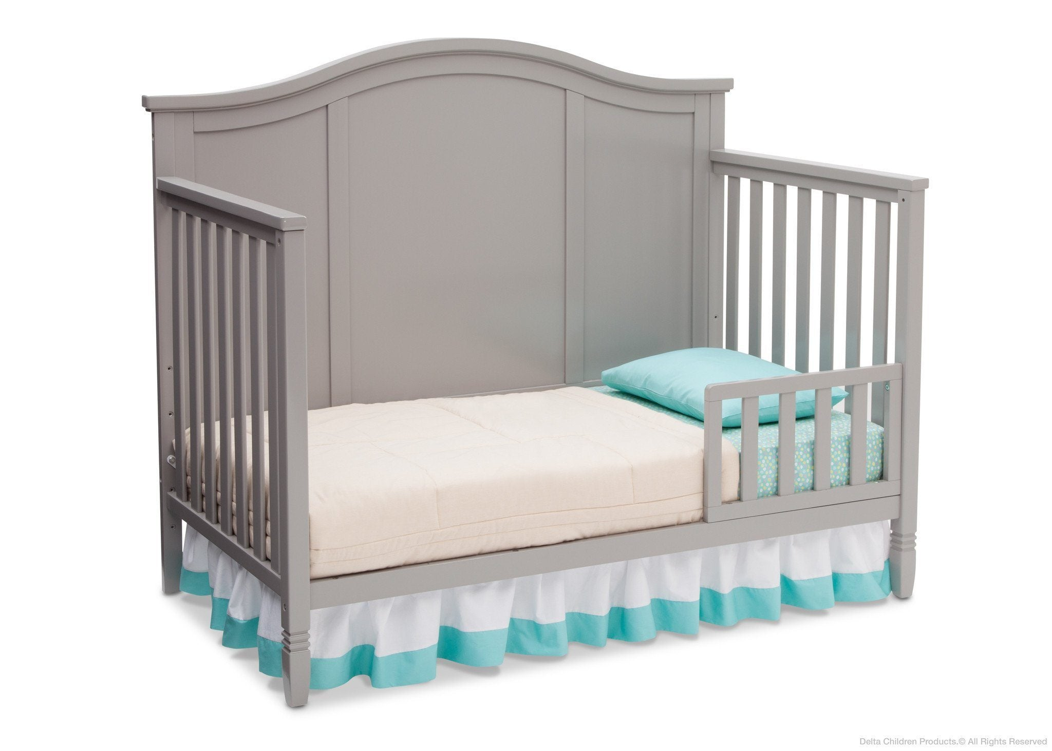Delta Children Grey (026) Madrid 4-in-1 Crib, Toddler Bed Silo View