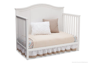 Delta Children White (100) Madrid 4-in-1 Crib, Day Bed Silo View