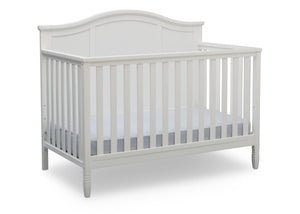 Delta Children Bianca White (130) Madrid 4-in-1 Crib, Right Crib Silo View