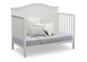 Delta Children Bianca White (130) Madrid 4-in-1 Crib, Day Bed Silo View