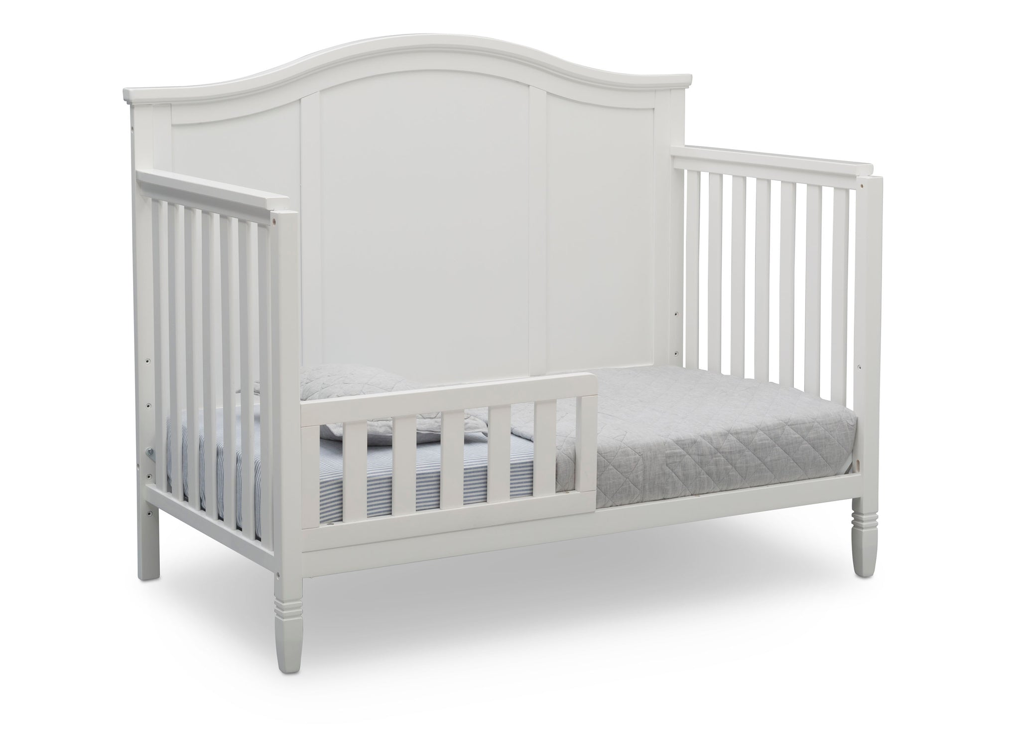 Delta Children Bianca White (130) Madrid 4-in-1 Crib, Toddler Bed Silo View