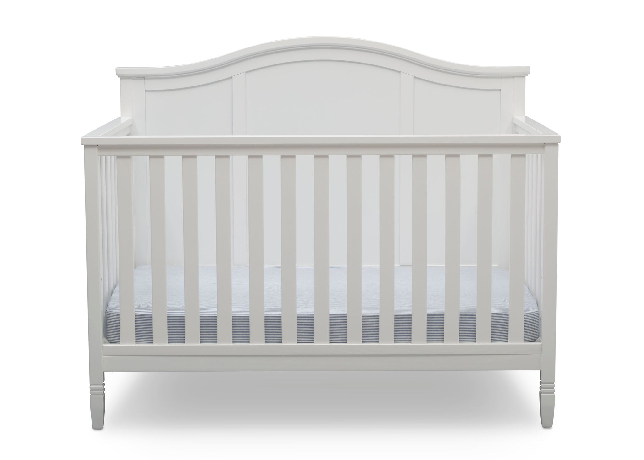 Delta Children Bianca White (130) Madrid 4-in-1 Crib, Front Crib Silo View