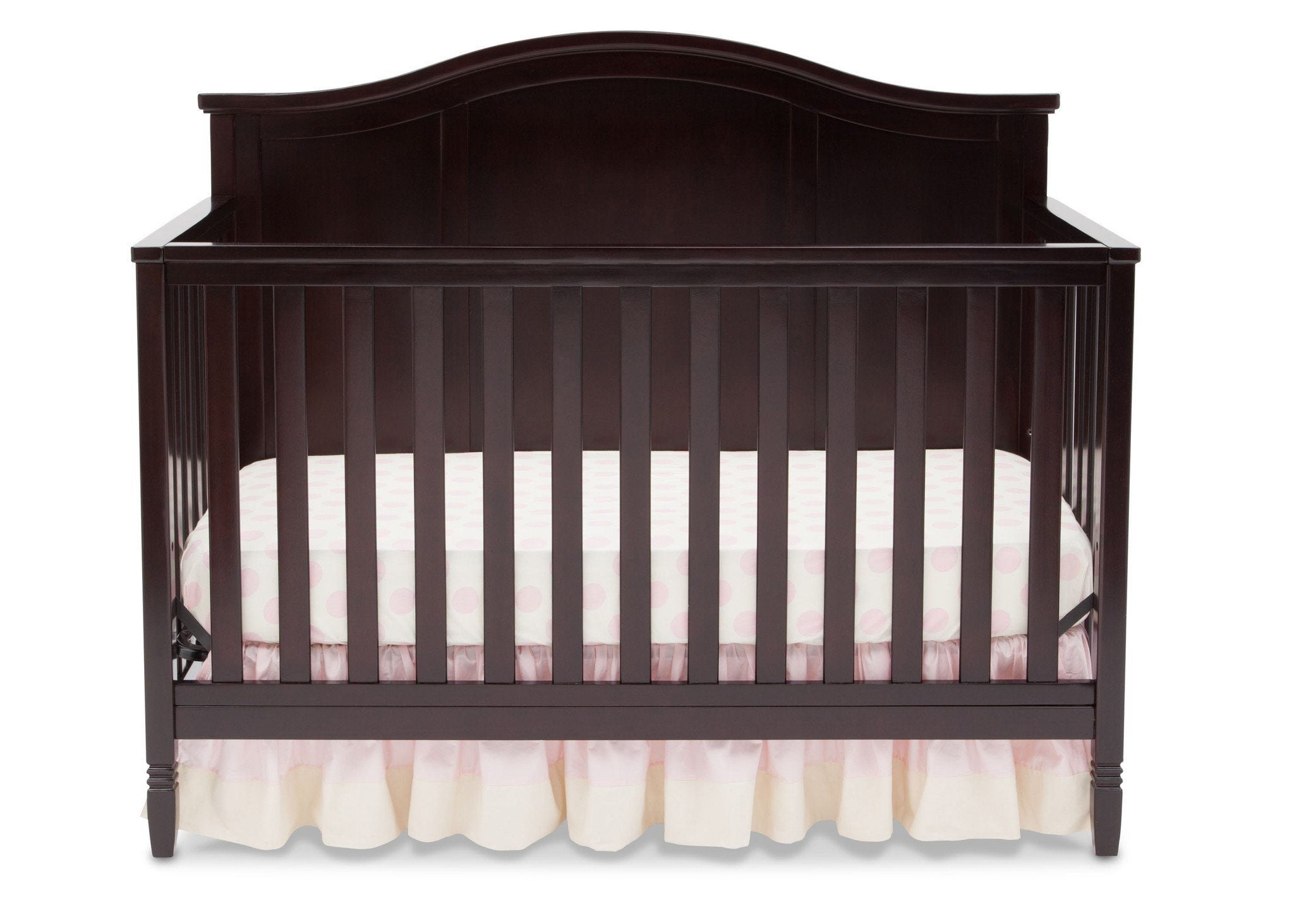 Delta Children Dark Chocolate (207) Madrid 4-in-1 Crib, Front Crib Silo View