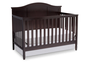 Delta Children Dark Chocolate (207) Madrid 4-in-1 Crib, Right Crib Silo View