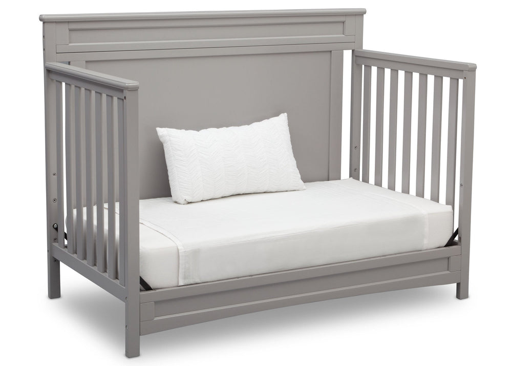 Delta Children Grey (026) Prescott 4-in-1 Crib, Day Bed Conversion a5a