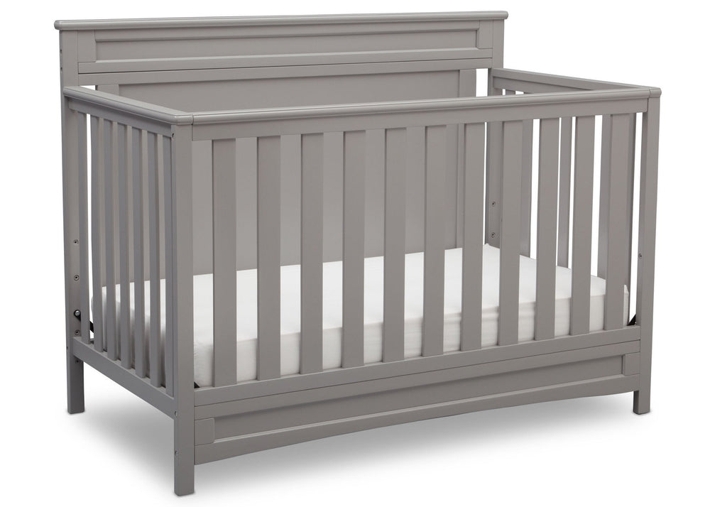 Delta Children Grey (026) Prescott 4-in-1 Crib, Crib Conversion a3a