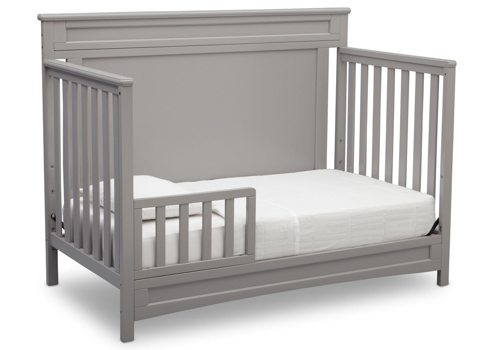 Delta Children Grey (026) Prescott 4-in-1 Crib, Toddler Bed Conversion a4a
