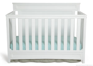 Delta Children White (100) Princeton 4-in-1 Crib, Crib Conversion b1b