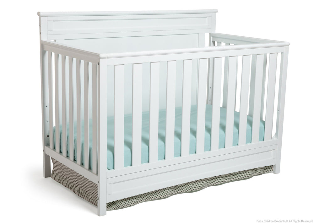 Delta Children White (100) Princeton 4-in-1 Crib, Crib Conversion