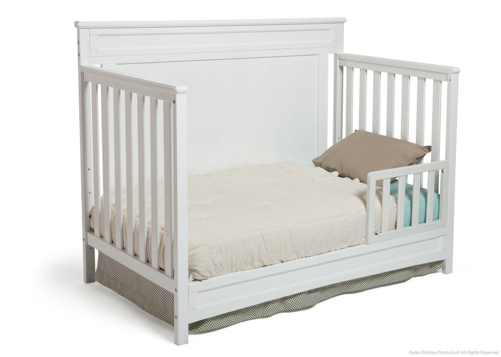 Delta Children White (100) Princeton 4-in-1 Crib, Toddler Bed Conversion b3b